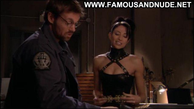 Claudia Black Nude Sexy Scene Stargate Leather Fetish Famous