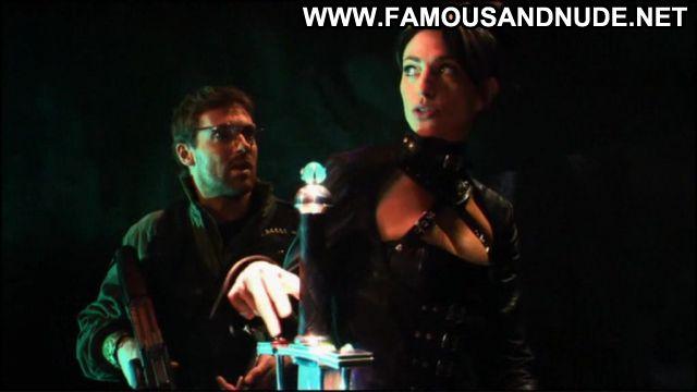 Claudia Black Nude Sexy Scene Stargate Leather Fetish Female