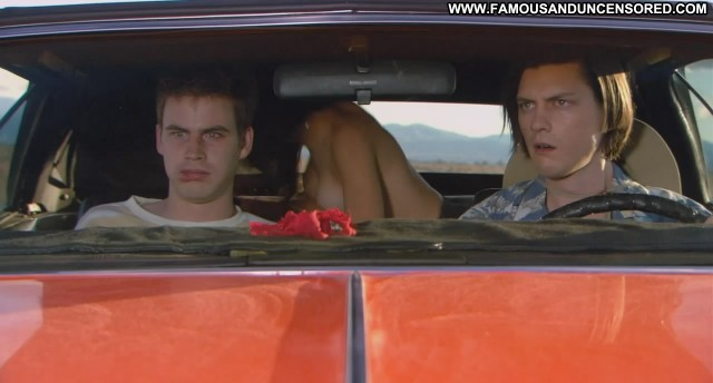 Eve Mauro Miss March Back Seat Car Lesbian Topless Sex Desert Couple
