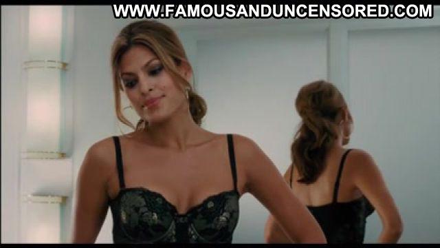 Eva Mendes Lingerie Celebrity Famous Latina Posing Hot Stockings
