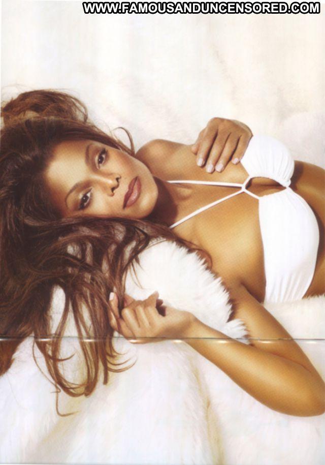 Janet Jackson Babe Cute Famous Bikini Hot Posing Hot Posing Hot