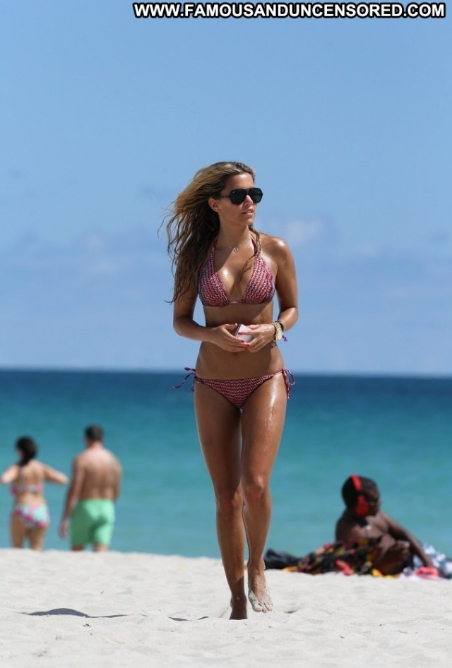 Sylvie Van Der Vaart Miami Beach High Resolution Beach Babe