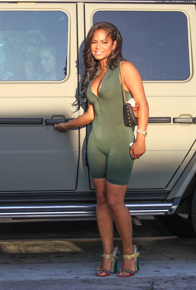 Christina Milian Sexy Posing Hot American Celebrity Beautiful Singer