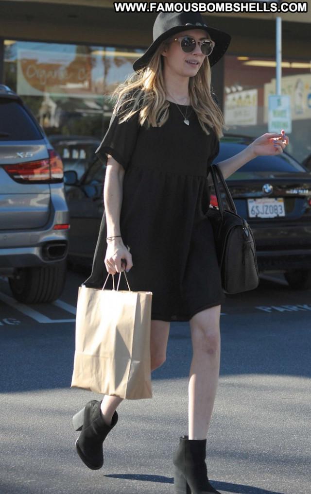 Emma Roberts Babe Beautiful Black Celebrity Posing Hot Paparazzi Hot