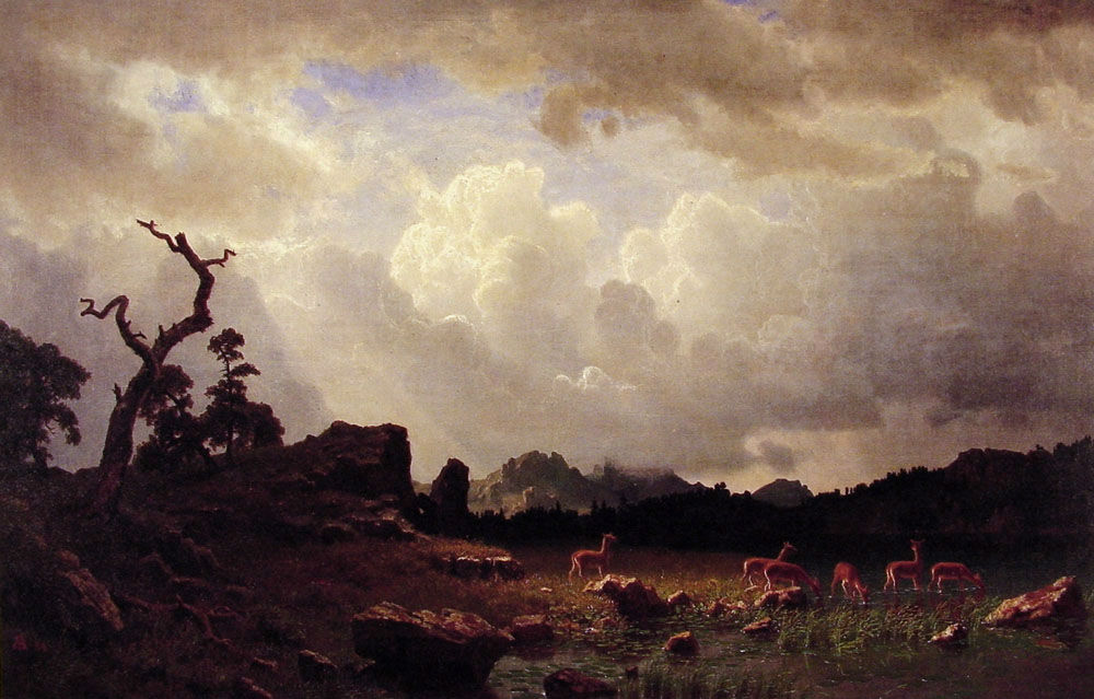 Thunderstorm In The Rocky Mountains 1859 by Albert Bierstad
