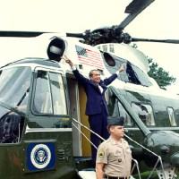 Nixons V sign