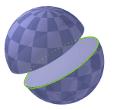sfera tagliata in emisferi