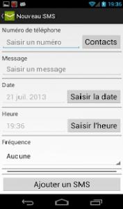 SMS Planifié envoi sms voeux automatiquement
