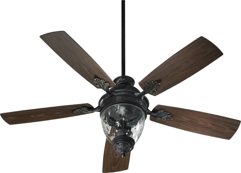 three light old world ceiling fan