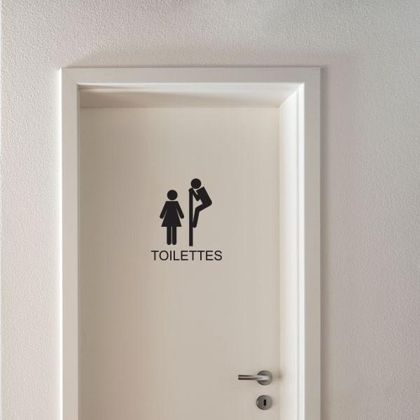Sticker WC Signaltique Toilettes Stickers Porte