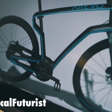 This is the world's first 3D printed carbon fiber bike