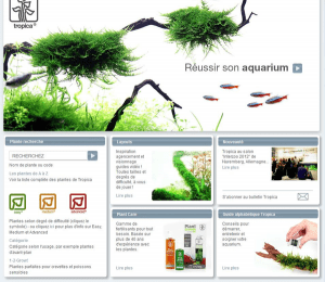 Site internet du spécialiste danois Tropica