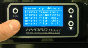Paramétrage des filtres FLUVAL G