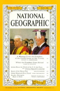 Couverture National geographic Mai 1960
