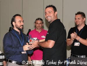 Stavros Tsipas 2ème en catégorie sauvage