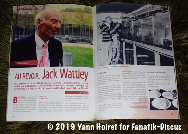 Au revoir Jack Wattley AQUAMAG 41 Yann Hoiret