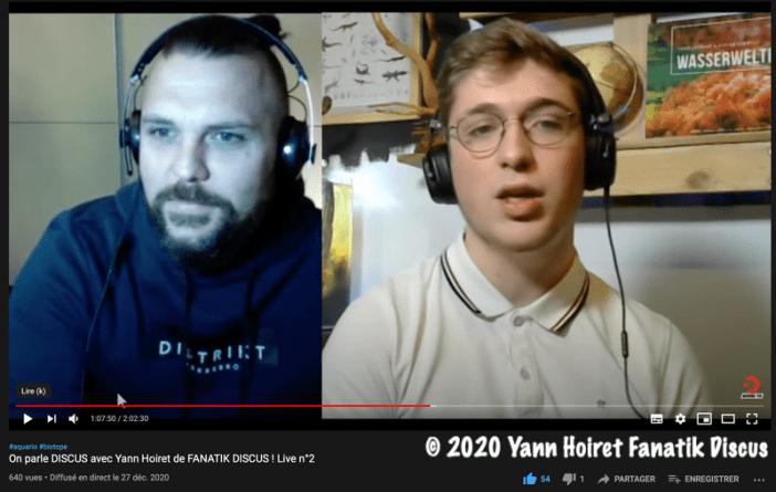 Gab Aqua et Fanatik Discus en Live sur YouTube