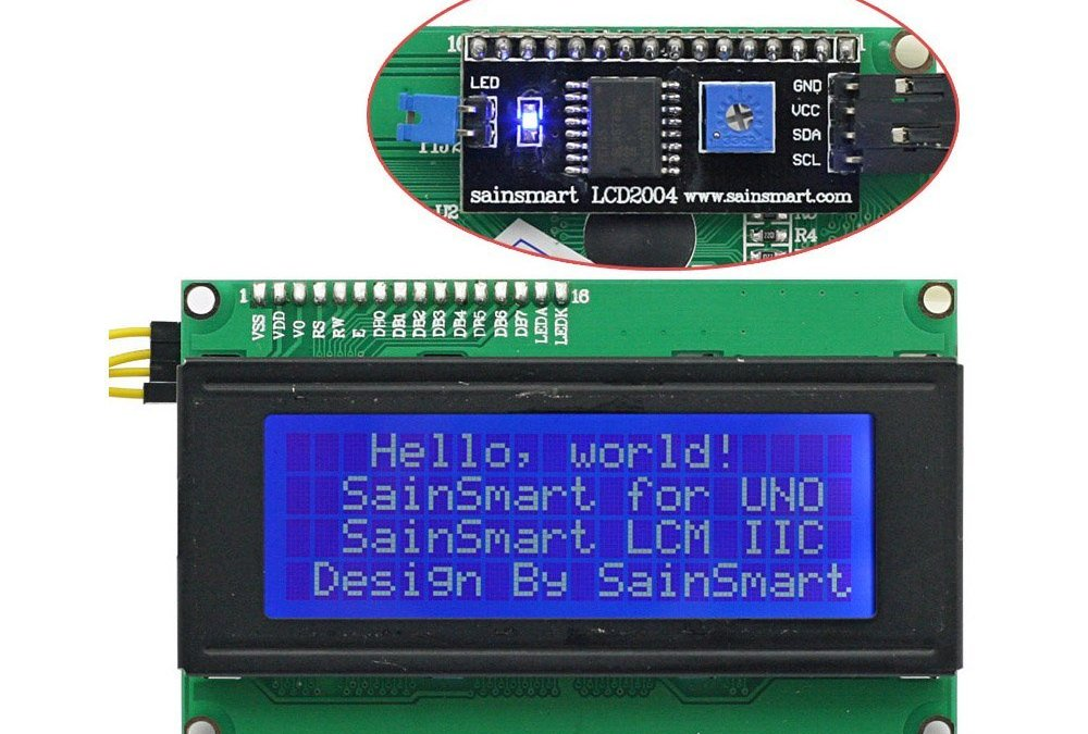 LCD QC2004A display 4 righe con convertitore I2C