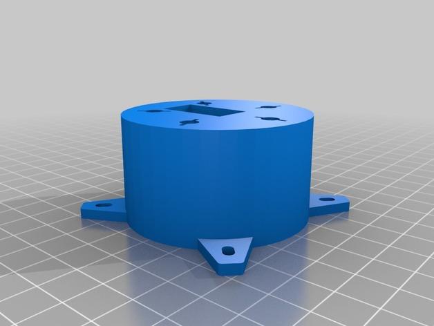 Base cilindrica fissa del pan-tilt
