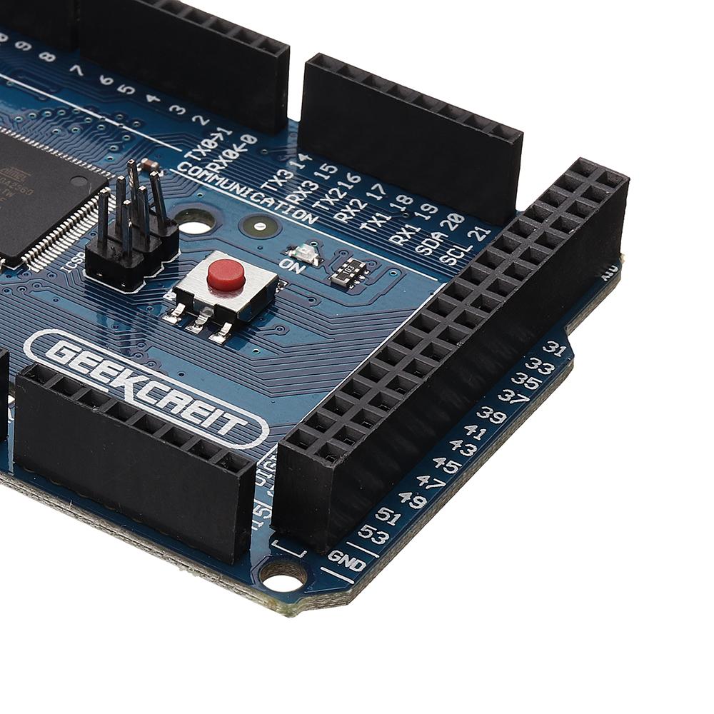 Geekcreit® MEGA 2560 R3 - ATmega2560-16AU particolare posteriore