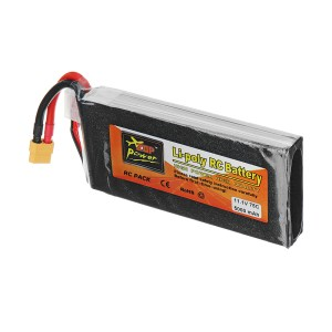 ZOP Power Batteria Lipo 11,1V 5000mAh 75C 3S connettore XT60