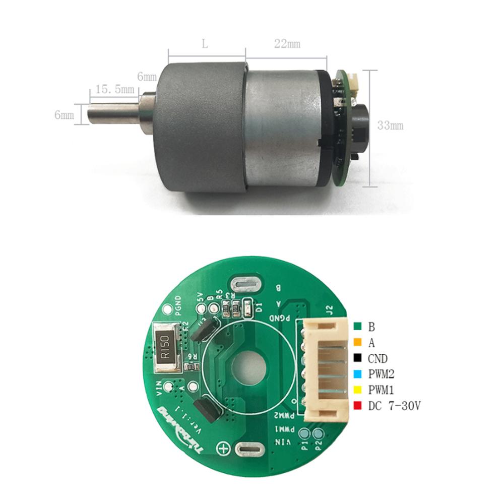 motori con encoders ad effetto hall
