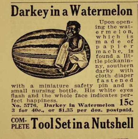 racist watermelon ad