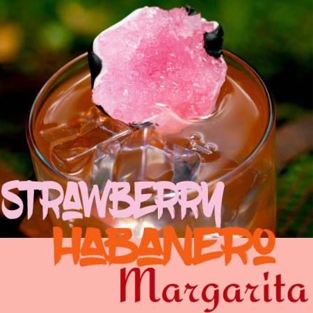 Strawberry Habanero Spicy Margarita
