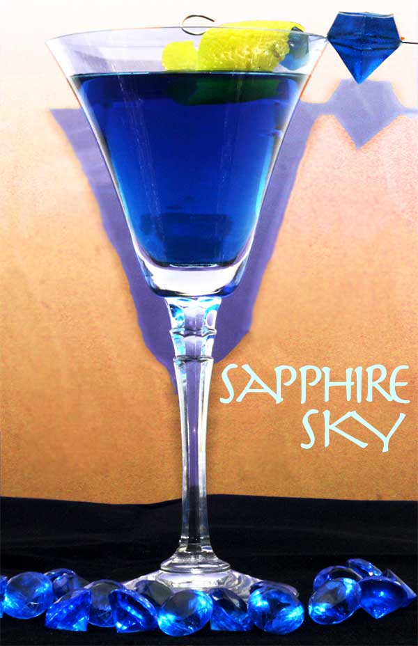 Sapphire Sky Blue Martini