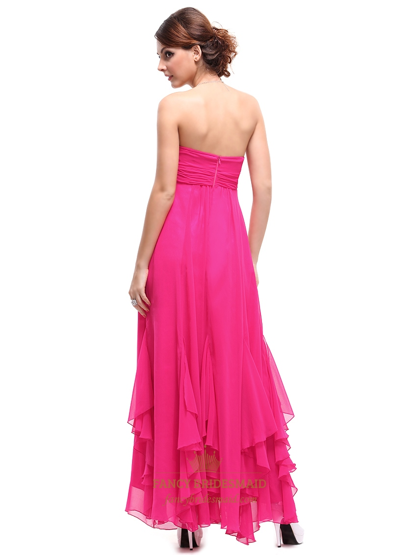 Pink bridesmaid dresses fuschia pink bridesmaid dresses ombrellifo Choice Image