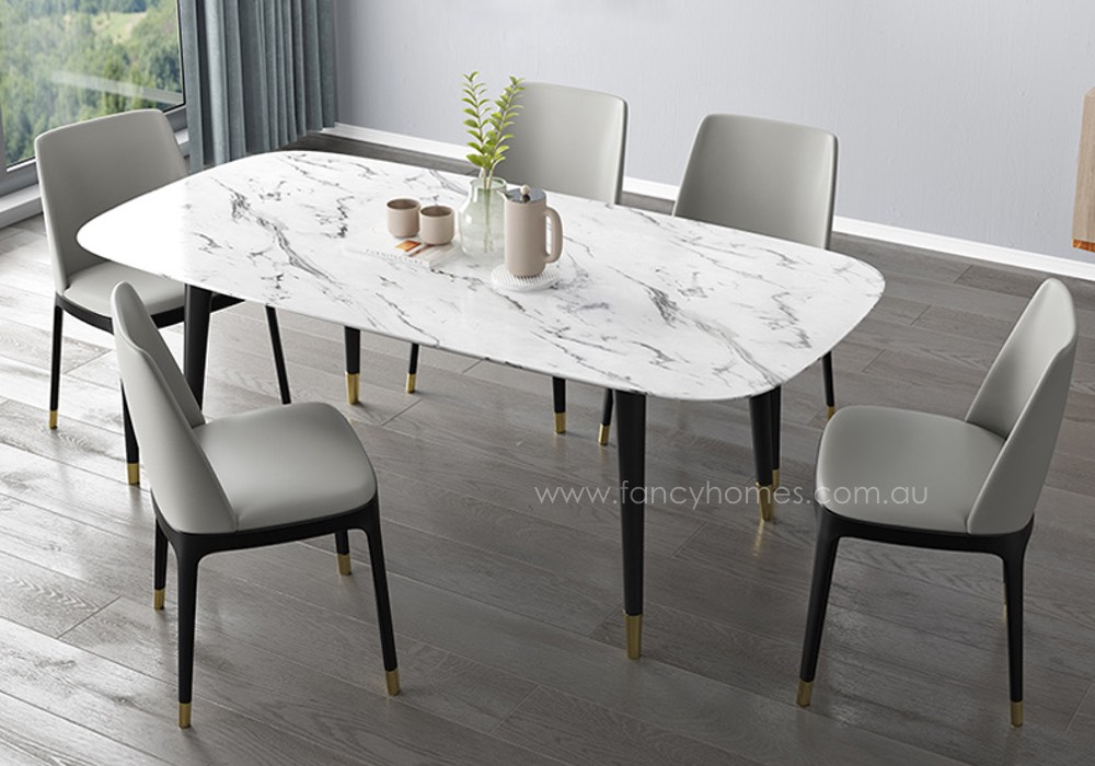lexi marble top dining table