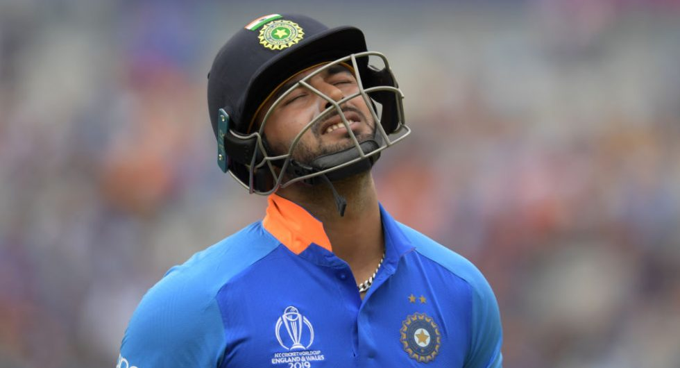 Rishabh Pant during 2019 WC