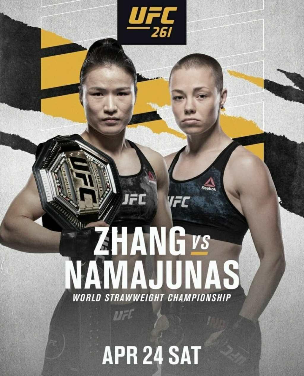 UFC 261 Zhang vs Namajunas | Ultimate Fighting Championship Zhang vs Namajunas