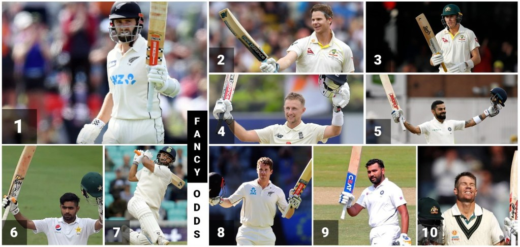 List Of Top 10 ICC Test Ranking Batsman