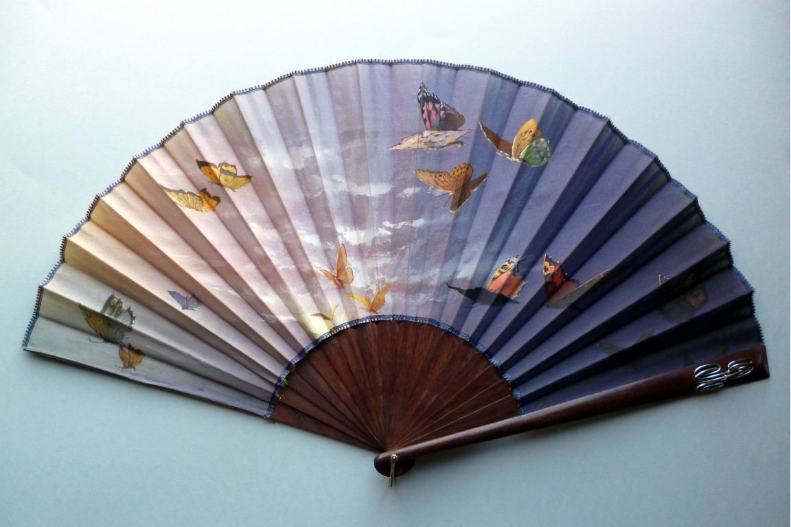 Butterflies, late 19th century fan