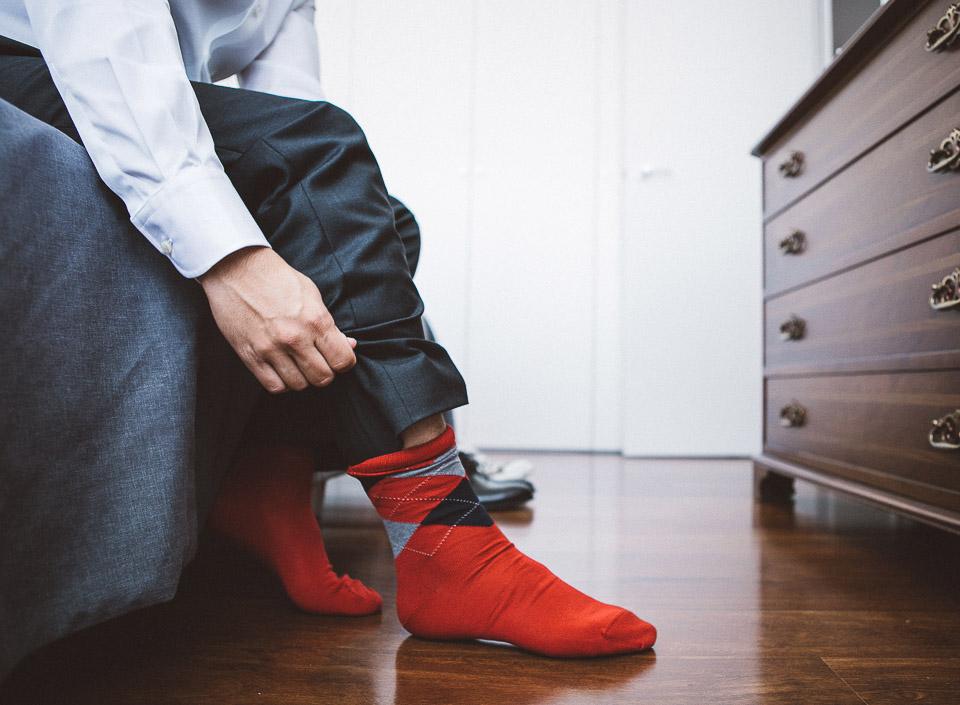 02 calcetines de color novio