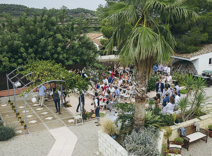 24 invitados en ceremonia