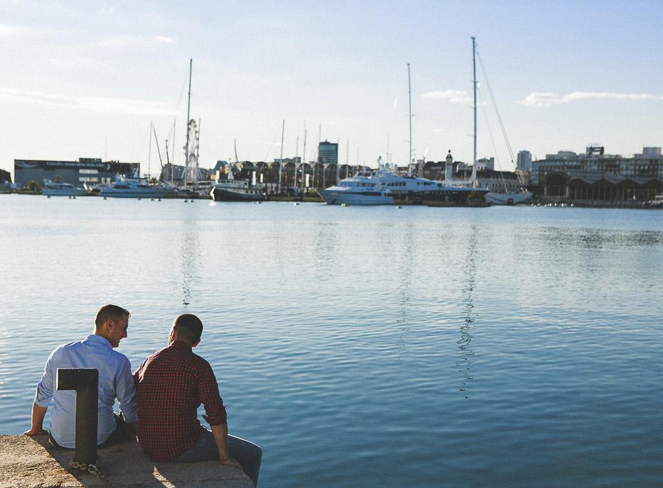 02 pareja de novios en puerto de Valencia