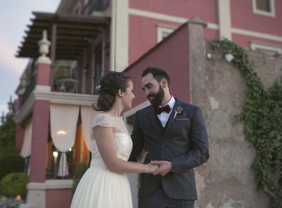 pareja feliz en Villa Delia