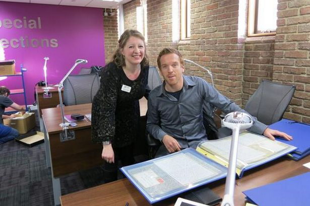 Damian Lewis at Newcastle University Gertrude Bell archives, source: thenorthernecho.co.uk