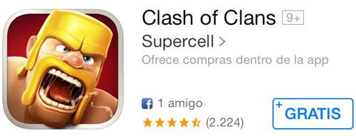 Clash of Clans aparentemente gratuito