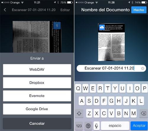 Escanear app
