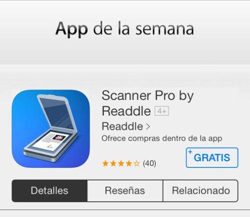 SCANNER PRO GRATIS App Gratis de la semana: Scanner Pro