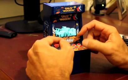 Space Invaders homenaje Space Invaders: gran homenaje con una pequeña recreativa