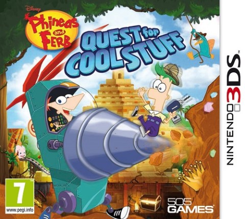 phineas 3ds Ya disponible Phineas and Ferb Quest for Cool Stuff