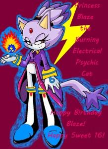blaze the electric psychic fire cat