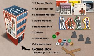 Burgle Bro's game set up