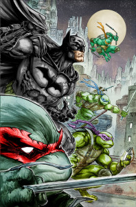 Batman/Teenage Mutant Ninja Turtles Crossover Image 1