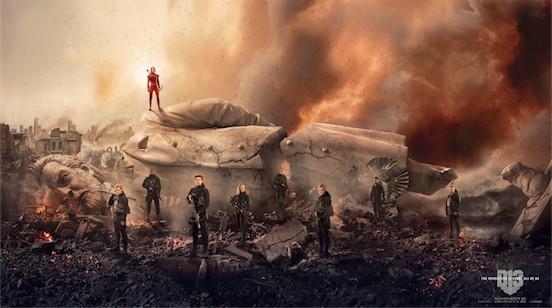 Hunger Games Mockingjay Fallen Snow Banner