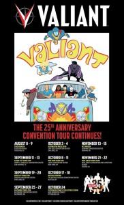 Valiant Twenty-Fifth Anniversary Comic Con Tour Art